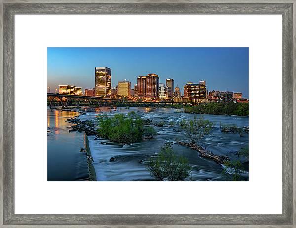 Richmond Twilight Framed Print