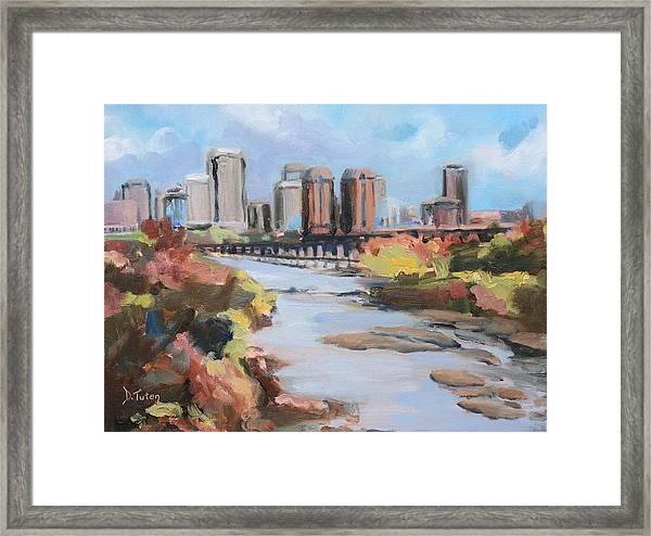 Richmond Virginia Skyline In Autumn Framed Print