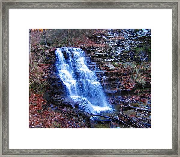 Ricketts Glen Waterfall 3941  Framed Print
