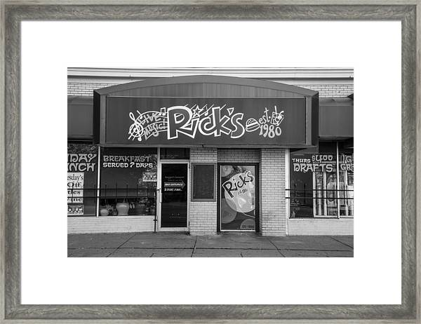 Rick's Cafe East Lansing  Framed Print