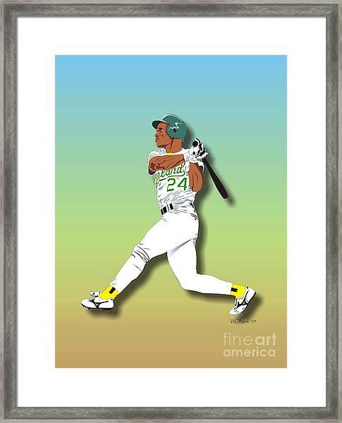 Ricky Henderson Framed Print
