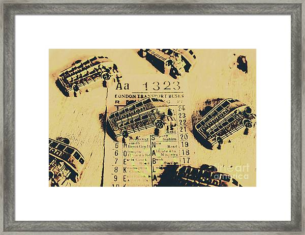Ride Down Memory Lane Framed Print
