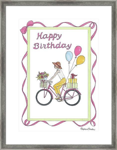 Ride In Style - Happy Birthday Framed Print