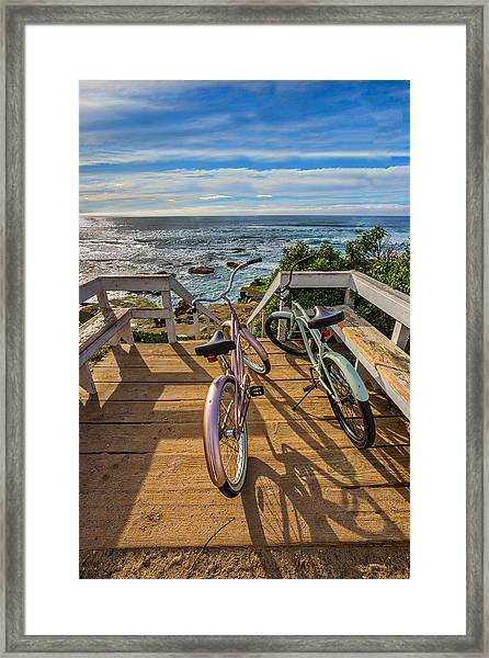 Ride With Me To The Beach Framed Print