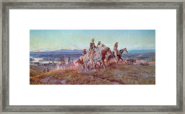 Riders Of The Open Range Framed Print