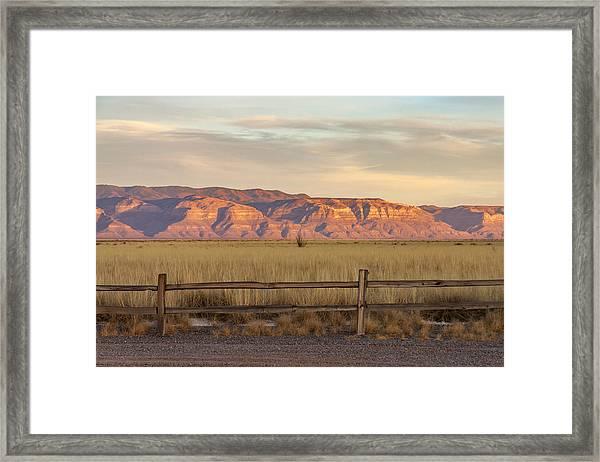 Ridge Outside Alamogordo Framed Print