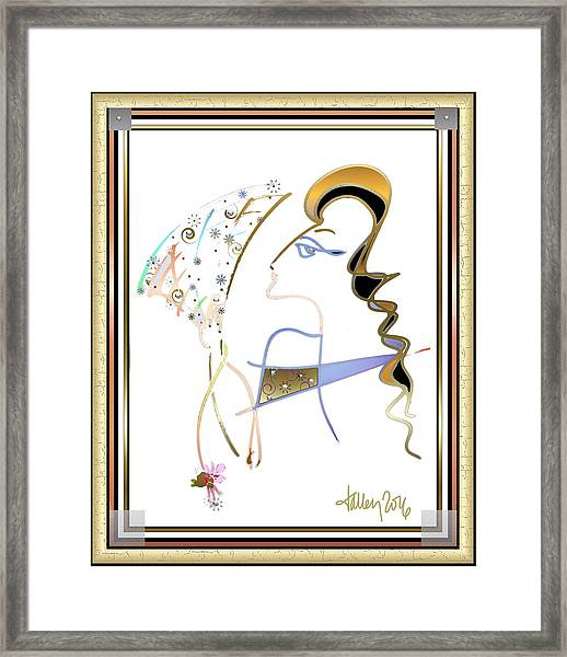 Framed Print featuring the painting Ridicule - Madame De Blayac by Larry Talley