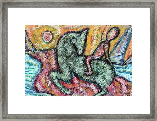 Ridin' Framed Print