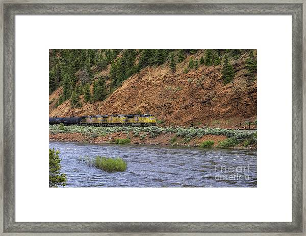 Ridin' The Rails Framed Print