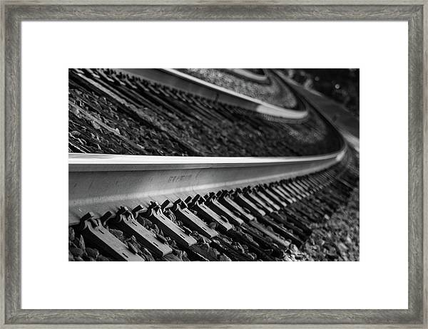 Riding The Rail Framed Print