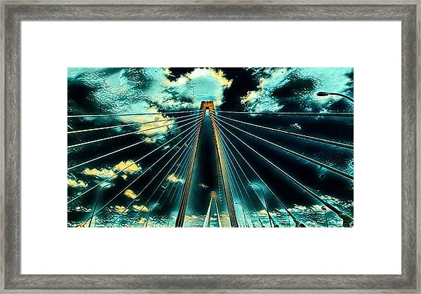 Riding The Ravenel Framed Print