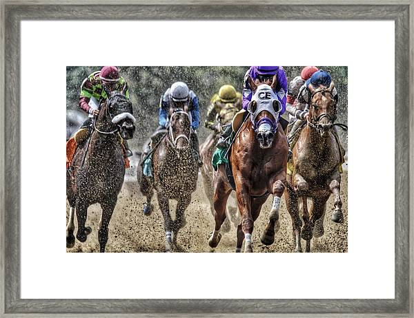 Right At You Framed Print
