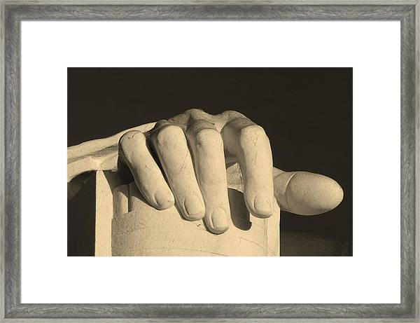 Right Hand Of The Man Framed Print