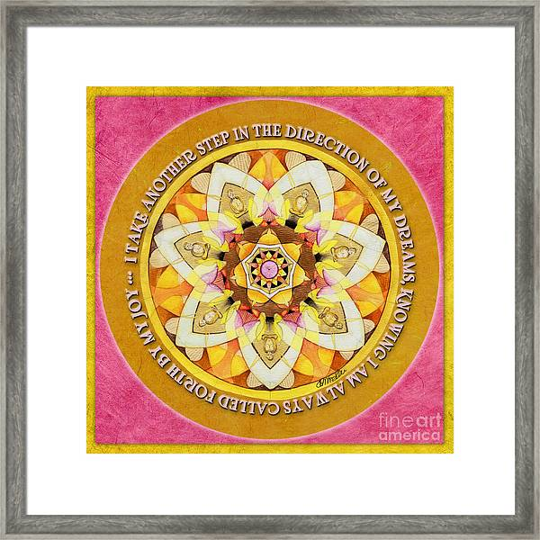 Right Path Mandala Prayer Framed Print