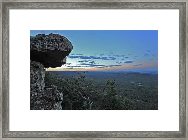 Rim Daybreak Framed Print