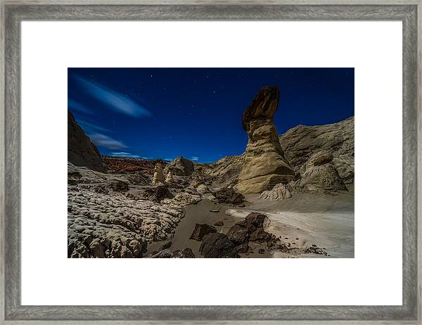 Rim Rock Toadstools Grand Staircase National Monument  Framed Print