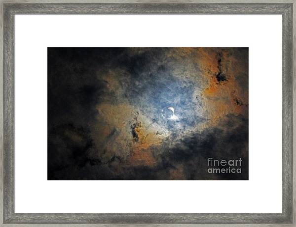 Ring Around The Moon Framed Print
