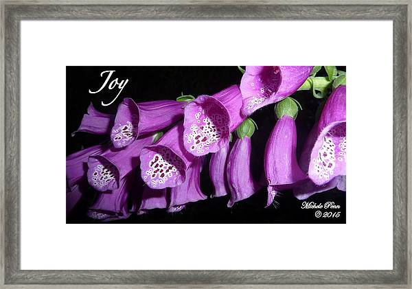 Ring My Bell With Joy Framed Print