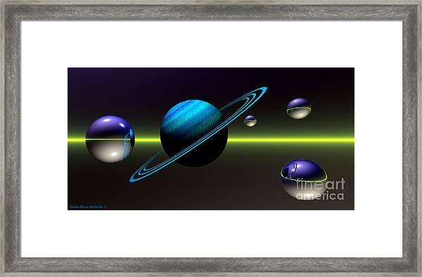 Framed Print featuring the digital art Rings Of Saturn by Sandra Bauser Digital Art