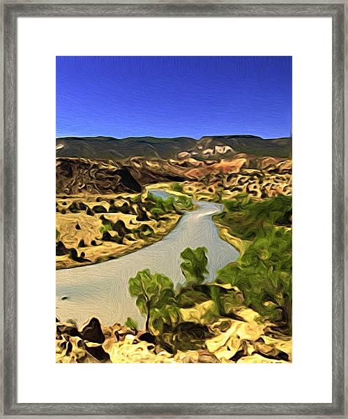 Rio Chama River Framed Print