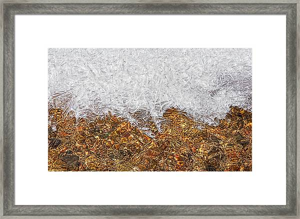 Framed Print featuring the photograph Rio Embudo Ice by Britt Runyon
