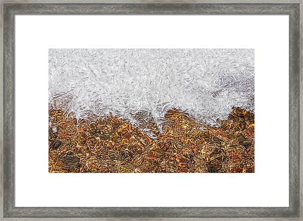 Rio Embudo Ice Framed Print