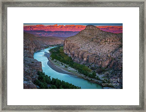 Rio Grande At Dusk Framed Print