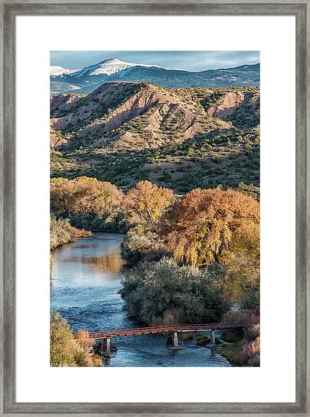 Rio Grande Embudo Vista Framed Print
