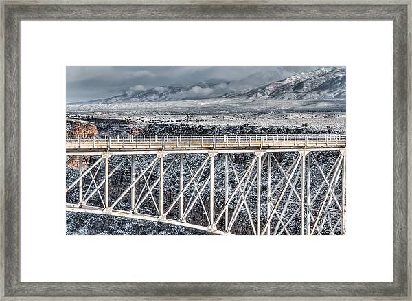 Rio Grande Gorge Bridge #001 Framed Print