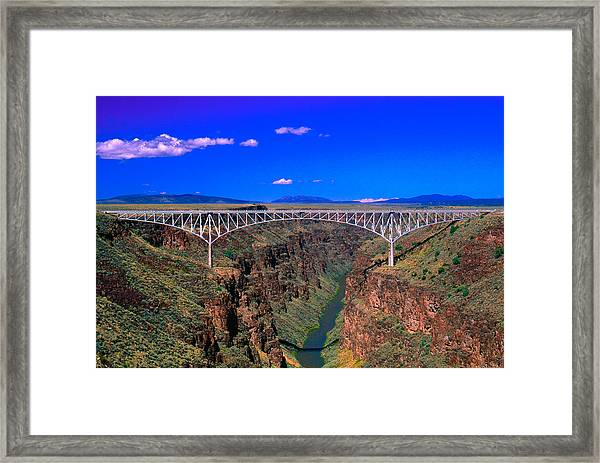 Rio Grande Gorge Bridge Taos County Nm Framed Print
