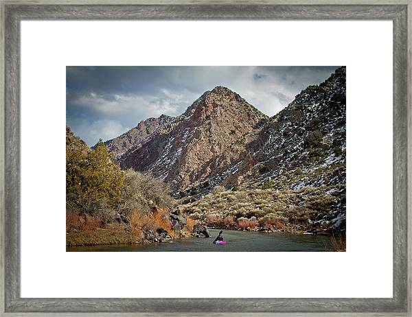 Rio Grande Racecourse In Winter Framed Print
