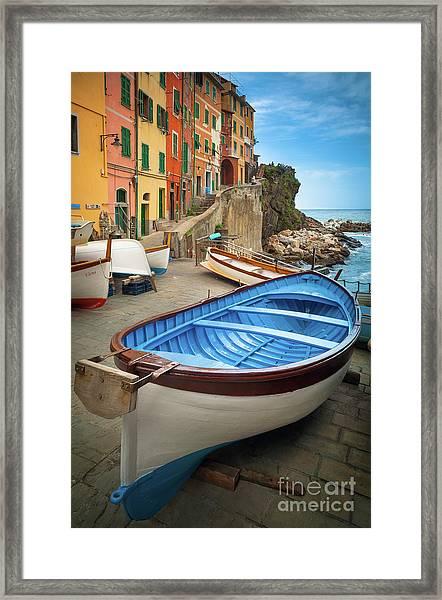 Rio Maggiore Boat Framed Print