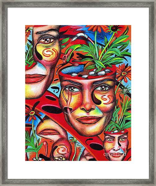 Ripening Of A Lucid Psyche Framed Print