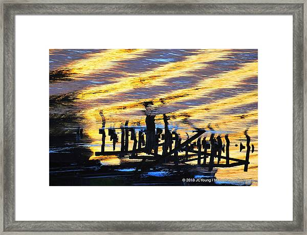 Ripple Effects Of The Day Framed Print by JCYoung MacroXscape