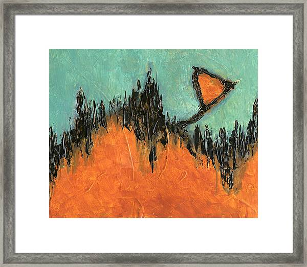 Rising Hope Abstract Art Framed Print