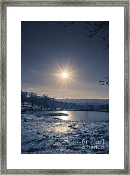 Rising Sun On A Cold Winter Morning Framed Print