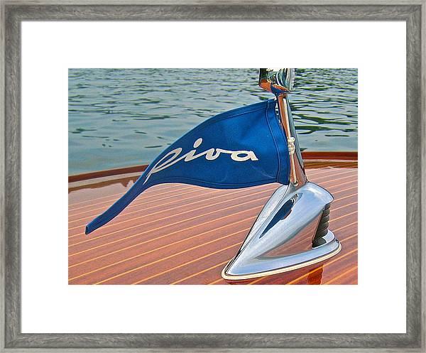 Riva Bow Flag Framed Print