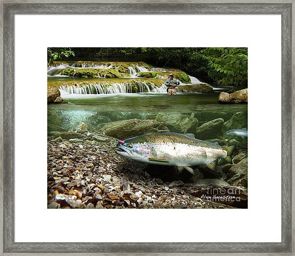 River Chrome Framed Print