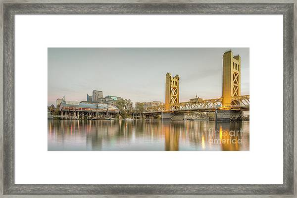 River City Waterfront Framed Print