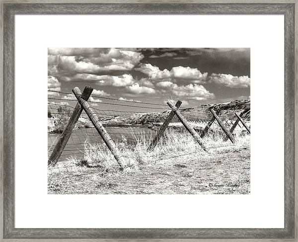 River Drama Framed Print