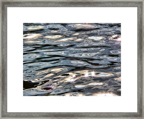 River Flow Reflections Framed Print