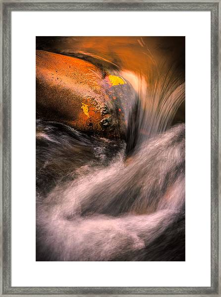 River Flow, Zion National Park Framed Print
