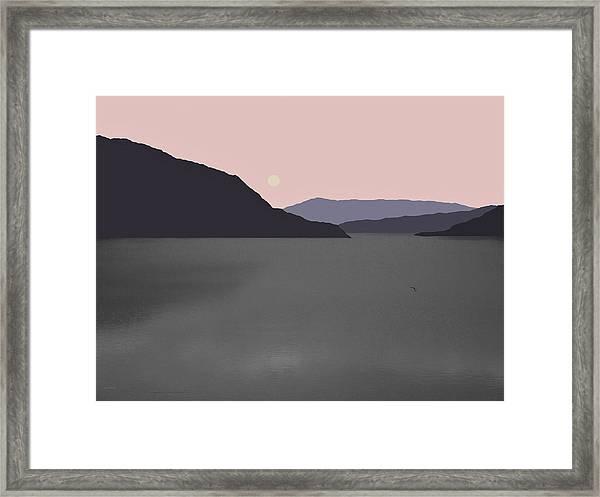 River Fog Framed Print