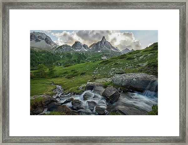 River In The French Alps Framed Print
