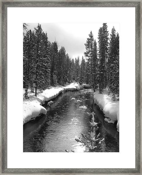 River In Yellowstone Framed Print