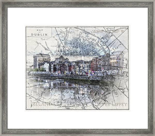 River Liffey Dublin Framed Print