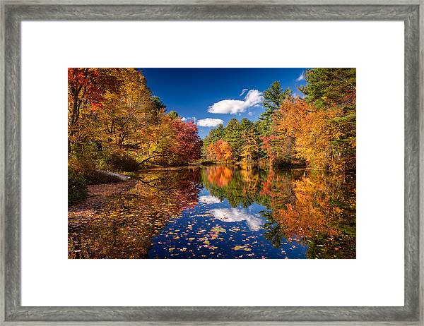 River Mirage Framed Print