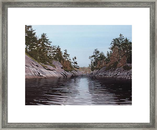 River Narrows Framed Print