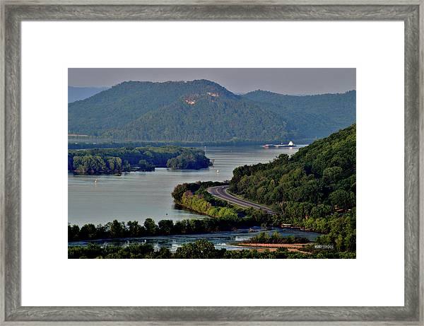 River Navigation Framed Print