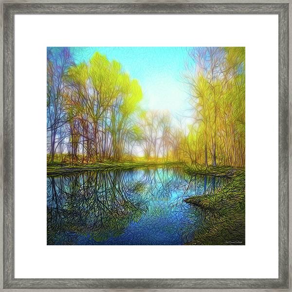 River Peace Flow Framed Print